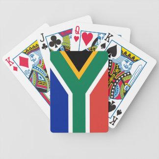 Naipes con la bandera de Suráfrica Baraja De Cartas