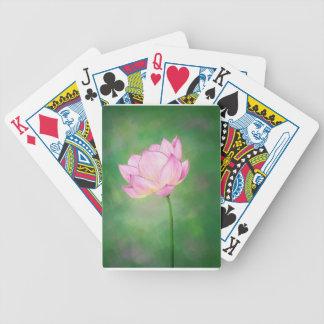 Naipes con la flor del flor de Lotus Barajas De Cartas