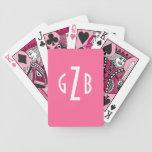 Naipes cones monograma baraja de cartas