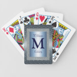 Naipes cones monograma de encargo elegantes baraja de cartas
