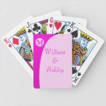 Naipes cones monograma de encargo elegantes cartas de juego