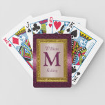 Naipes cones monograma de encargo elegantes barajas de cartas