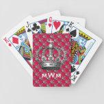 Naipes cones monograma de la corona baraja cartas de poker