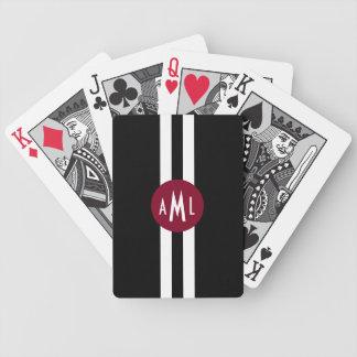 Naipes cones monograma de los hombres cartas de juego