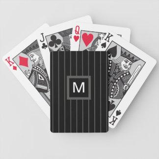 Naipes cones monograma de los hombres -- Rayas de  Barajas De Cartas