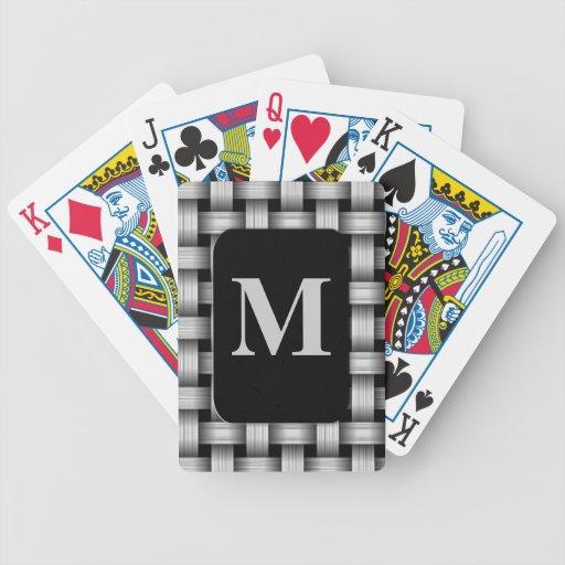 Naipes cones monograma modificados para requisitos baraja de cartas