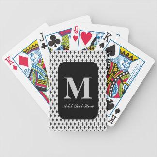 Naipes cones monograma modificados para requisitos cartas de juego
