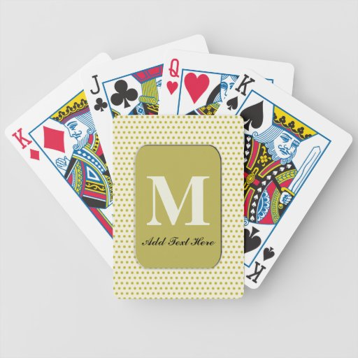 Naipes cones monograma modificados para requisitos baraja cartas de poker