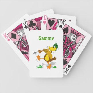 Naipes conocidos del dibujo animado de los niños barajas de cartas