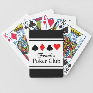 Naipes conocidos personalizados del póker baraja