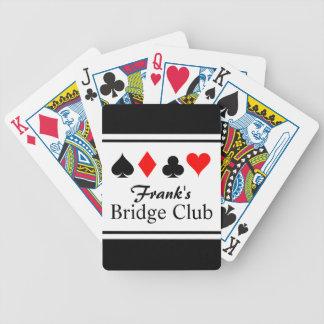 Naipes conocidos personalizados del puente baraja cartas de poker