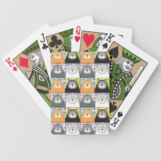 Naipes contentos del gatito baraja cartas de poker