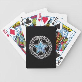 Naipes cristalinos de la estrella del Pentagram Baraja Cartas De Poker