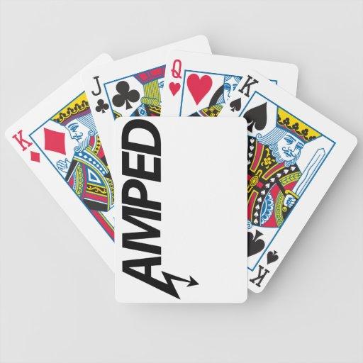 Naipes de Amped (oscuros) Cartas De Juego