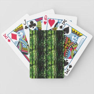 Naipes de bambú de la mirada del bosque baraja de cartas
