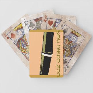 Naipes de bambú del logotipo del parque zoológico  baraja cartas de poker