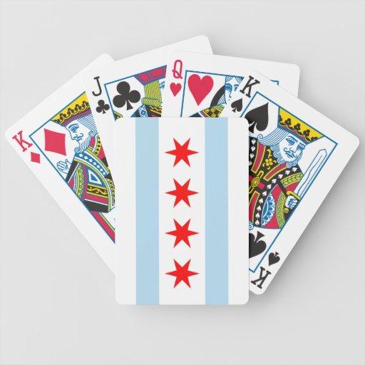 Naipes de Bicycle® de la bandera de Chicago Baraja