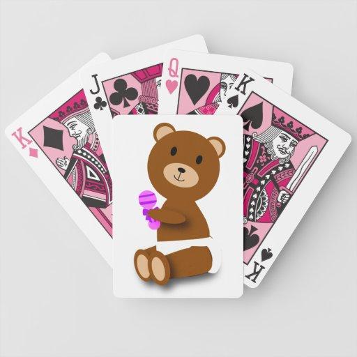 Naipes de Bicycle® del oso del bebé Baraja Cartas De Poker