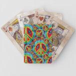 Naipes de Bicycle® del signo de la paz del teñido  Barajas De Cartas