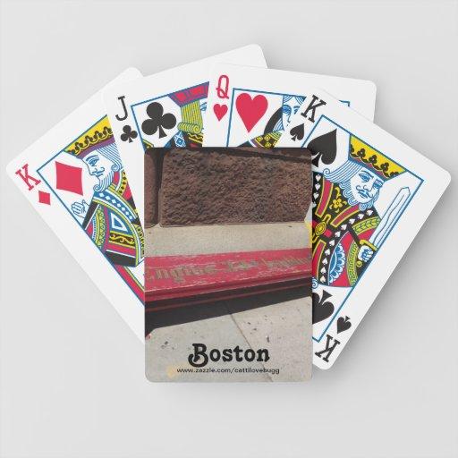 Naipes de Boston del motor 33 Baraja Cartas De Poker
