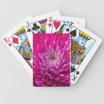 Naipes de color rosa oscuro del crisantemo barajas de cartas