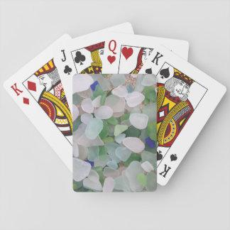 Naipes de cristal de los juegos del puente del mar barajas de cartas