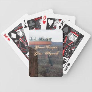 Naipes de cristal de Skywalk del Gran Cañón Barajas De Cartas