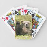 Naipes de Cub de oso de Alaska Brown Cartas De Juego