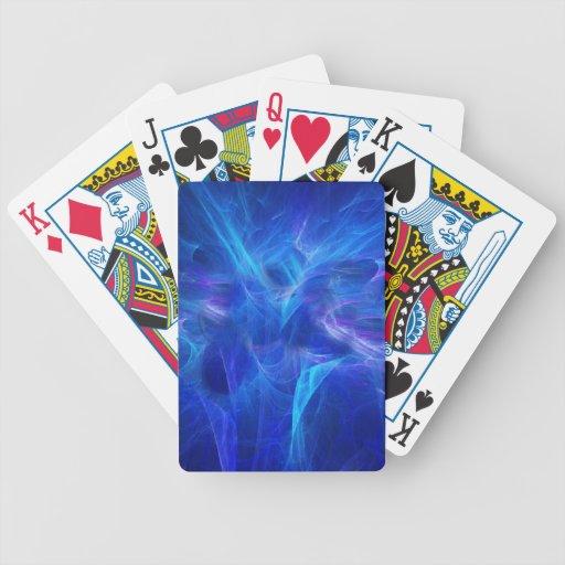 Naipes de destello azules baraja cartas de poker