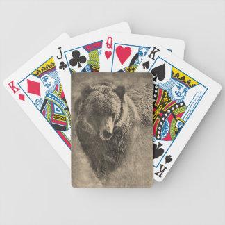 Naipes de dibujo del oso grizzly baraja