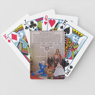 Naipes de dos etapas de la templanza baraja cartas de poker