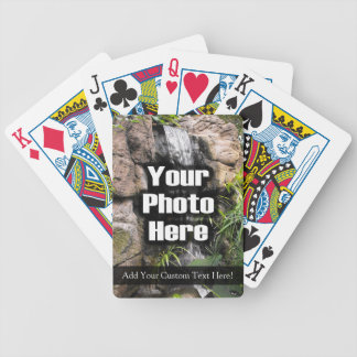 Naipes de encargo a todo color de la foto/del text baraja de cartas