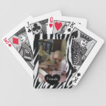 Naipes de encargo de la foto de los amigos barajas de cartas