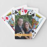 Naipes de encargo de la foto del boda barajas de cartas