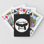 Naipes de encargo de la mamá de la correa negra de baraja cartas de poker