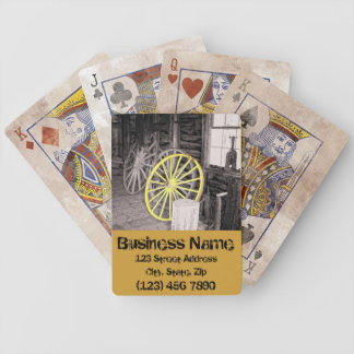 Naipes de encargo de la rueda de carro cartas de juego
