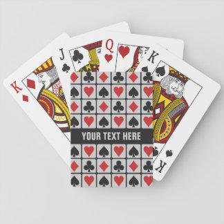 Naipes de encargo del jugador de tarjeta