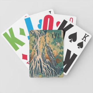 Naipes de encargo del monograma del arte japonés baraja de cartas