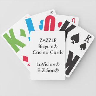 Naipes de encargo LoVision® del casino de Bicycle® Baraja Cartas De Poker