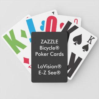 Naipes de encargo LoVision® del póker de Bicycle® Baraja
