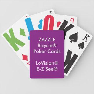 Naipes de encargo LoVision® del póker de Bicycle® Baraja De Cartas