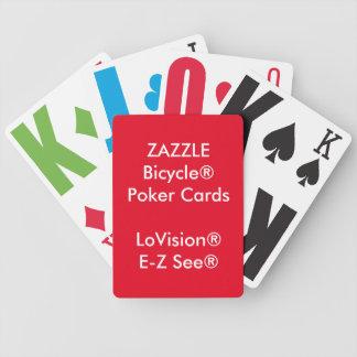 Naipes de encargo LoVision® del póker de Bicycle® Cartas De Juego
