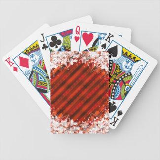 Naipes de encargo rojos del día de fiesta cartas de juego