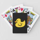 Naipes de goma del pato baraja cartas de poker