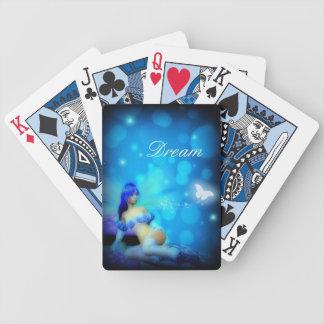 Naipes de hadas azules ideales cartas de juego