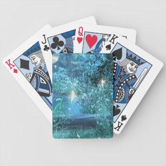 Naipes de hadas de la magia de la noche baraja de cartas