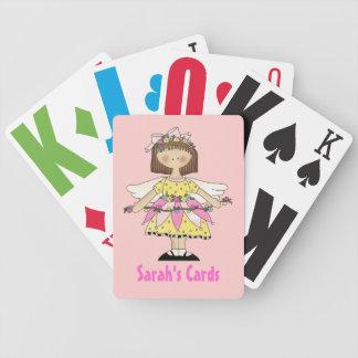 Naipes de hadas del personalizado del chica baraja de cartas