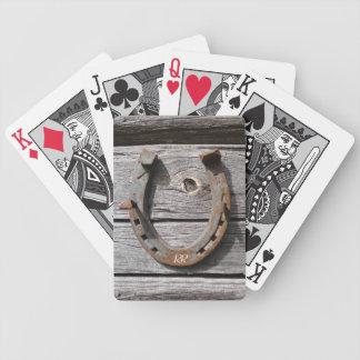 Naipes de herradura afortunados baraja cartas de poker