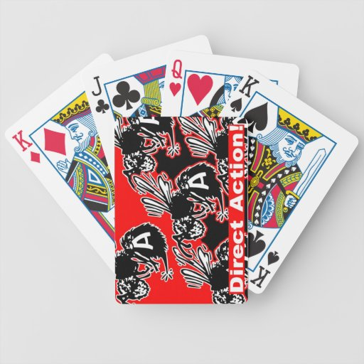 naipes de la acción directa cartas de juego