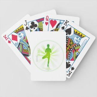 Naipes de la actitud de la yoga (actitud del baraja cartas de poker